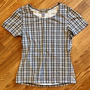 Plaid Scoopneck T-Shirt